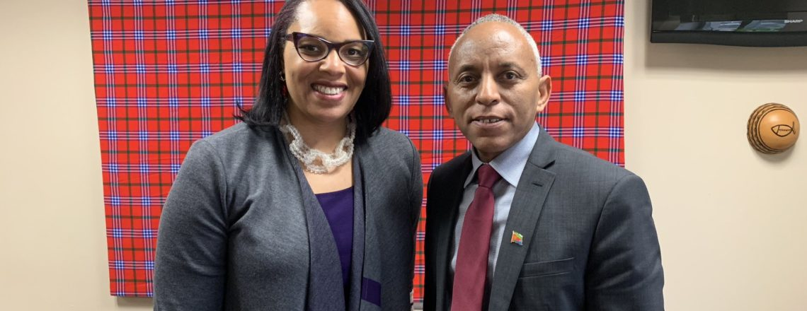 Chief of Mission Natalie E. Brown met with Eritrea's Chargè d'affairs to the United States