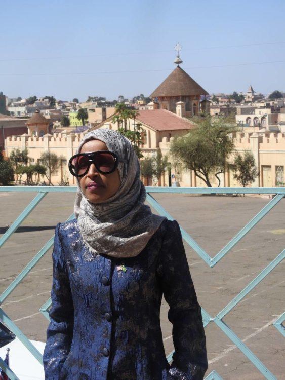 Rep. Ilhan Omar visiting St. Mary Church, Asmara Tour.